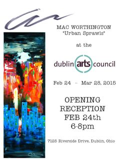 """join us Feb 24th from 6-8 for the """"Urban Sprawls"""" exhibition opening reception."""