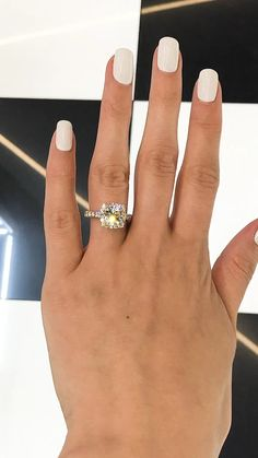 This is great for a promise ring! 😍 wedding videos Forever One Cushion Moissanite with Diamond Halo Engagement Ring Princess Cut Engagement Rings, Beautiful Engagement Rings, Halo Diamond Engagement Ring, Designer Engagement Rings, Moissanite Engagement Rings, Cushion Cut Engagement, Diamond Promise Rings, Promise Rings For Her, Rose Gold Engagement
