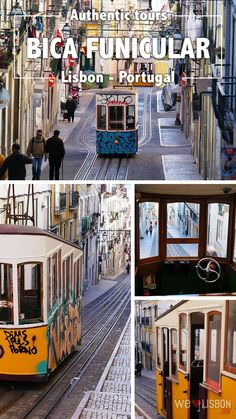 Bica Funicular - Together with Lavra and Glória, this is one of the Lisbon's legendary funiculars and a city's ex-libris. Since 1892 that it climbs one of the steepest streets in town, connecting the riverfront neighbourhood of Cais do Sodré to Bairro Alto.