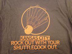Raygun Rockout Shuttlecock shirt