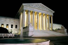 Second Thoughts: Presidential Regrets with Their Supreme Court Nominations by William Harper The Supreme Court Building at night with fountain Supreme Court Building, Supreme Court Cases, Building Images, Capitol Building, Gazebo, Health Care, Acting, United States, Outdoor Structures
