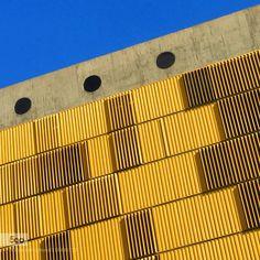 yellow & Blue - Pinned by Mak Khalaf Abstract architectureblueskywindowsyellow by EDISOUZA