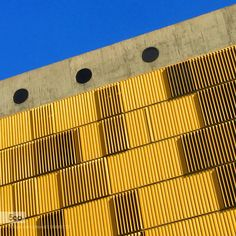 yellow & Blue - Pinned by Mak Khalaf Abstract architectureblueskywindowsyellow by EDISOUZA