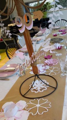 déco de table printemps
