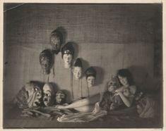 "William Mortensen ""Faye Wray with Masks"" (1926)"