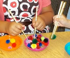 Brick by Brick: Great fine motor practice. Even my middle-schoolers need to fine-tune their fine motor skills. Preschool Fine Motor Skills, Gross Motor Activities, Gross Motor Skills, Sensory Activities, Preschool Activities, Preschool Classroom, Montessori, Funky Fingers, Tot School
