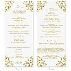 Wedding Programs Examples On Wedding Programs Sample Front Wedding