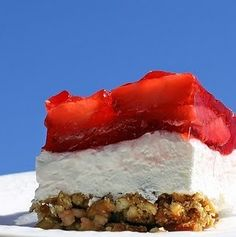 Years ago, I spent part of the Summer w/ my Aunt Charlotte, She made this amazing strawberry pretzel salad/dessert thingie, and it has been a family favorite ever since!The pretzel crust MAKES this dish!Crush them fine and your guests will keep wondering what it is!Strawberry Pretzel SaladIngredientsDirectionsPreheat oven to 400°F.Stir together crushed pretzels, melted butter and 3 tablespoons white sugar