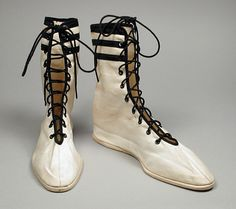 Pair of Woman's Bathing Shoes, cotton canvas and cork, circa 1910
