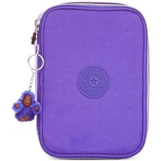 Kipling Handbag, 100 Pens Pen Case ($44) ❤ liked on Polyvore featuring home, home decor, office accessories, octopus purple, kipling, kipling pencil case, purple pencils, writing pens and purple pens