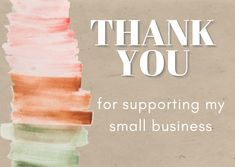Very simple yet brand oriented Thank You Card to add into the order before shipment Blog Banner, Thank You For Support, Youtube Banners, Thank You Cards, Muse, Digital, Simple, Design, Appreciation Cards