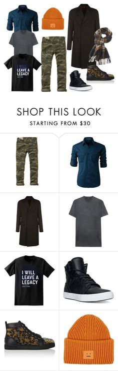 """peace"" by tata88 on Polyvore featuring Hollister Co., LE3NO, Gucci, Dsquared2, Paul Frank, Supra, Christian Louboutin, Acne Studios, L.L.Bean и men's fashion"
