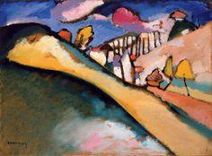 Wassilij Kandinsky   Studie für Landschaft (Dünaberg) - Landscape   1910, © Albertina, Wien