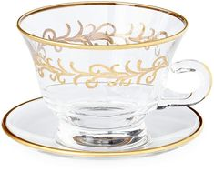 Oro Bello  Cups & Saucers, Set of 4
