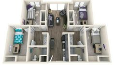 Gcu Dorm Layout College Dorm In 2019 Dorm Layout Cute