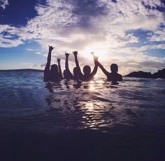 Friends. Sunset. Water. What can be better?