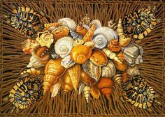 Shells carpet at Ehrman Tapestry from Kaffe Fassett Studio.
