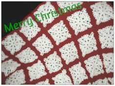 Snowflake Afghan For Christmas Ready to Ship.   Learn how to make your own! Free Pattern http://taradisemountain.com/freepatternsnowflakeafghan/