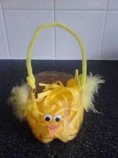 Image result for baby chick bottle easter basket