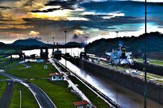 Panama Canal - Miraflores Locks.
