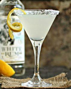 A Cocktail Life - Lemon Drop Daiquiri Party Drinks, Cocktail Drinks, Cocktail Recipes, Cocktails, Drink Recipes, Alcoholic Beverages, Dessert Drinks, Cocktail Shaker, Lemon Drink