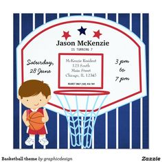 sold #Basketball #sports #invitations Available in different products. Check more at www.zazzle.com/graphicdesign