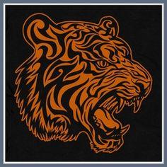 Tiger T Shirt Tribal Tigers Head graphic Tee Shirt
