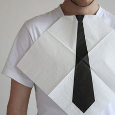 A recent study performed by researchers at the Institute of Laundry Science revealed two facts: 1) 45% of all men stain their neckties when they eat. and 2) 88% of all researchers at the Institute of Laundry Science have posted resumes on Monster.com to get the hell out of there. $9.99 here u can find it http://www.buy-gifts.us/2012/02/dress-for-dinner-necktie-napkins/