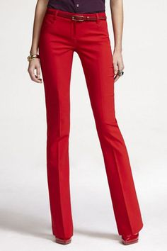 express-pants    Express Double Weave Columnist Pant, $79.90, available at Express