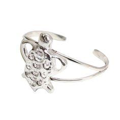 Sterling Silver Tortoise Cuff Statement Bracelet Artistic Handcrafted