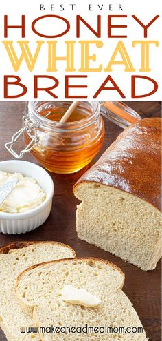 Simple and easy to make with basic pantry or food storage ingredients, you are going to LOVE this Honey Wheat Bread recipe!  It is the best sandwich bread ever.  If you thought you didn't like wheat bread, think again!  This will make a believer out of you!!  #bread #wheat #sandwich #bestbread #bestwheatbread #pantry Best Freezer Meals, Make Ahead Meals, Freezer Cooking, Frugal Meals, Quick Easy Meals, Honey Wheat Bread, Wheat Bread Recipe, Food Storage, Storage Ideas