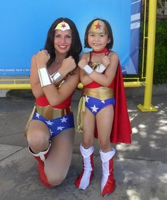 I will never get over cute pictures of kids emulating Wonder Woman. Family Costumes, Girl Costumes, Halloween Costumes, Storybook Characters, Movie Characters, Mighty Girl, Geek Squad, Super Hero Costumes, People Dress