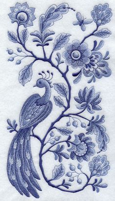 Blue Delft Artist's Patterns | ... Stitched in shades of blue to represent the classic Delft Blue style