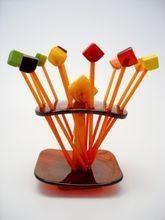 Absolutely Rare Art Deco Swizzle Bar Set - ... | Vintage Plastic - I ...