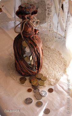 Декор предметов Моделирование конструирование моя денежная бутылка по МК Натальи Бутылки стеклянные фото 1