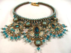 Princess Jasmine  Beaded Necklace and Earring by ChristmasCreation, $540.00