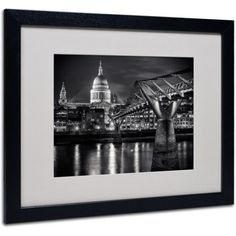 Trademark Fine Art Letters From London by Giuseppe Torre, Black Frame, Size: 11 x 14