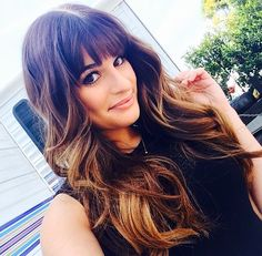 Lea Michele's hair is flawless