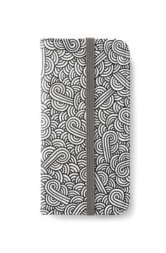 """White and black zentangle"" iPhone Wallet by @savousepate on @redbubble #iphonewallet #phonewallet #pattern #drawing #abstract #modern #graphic #geometric #boho #doodles #zentangle #blackandwhite"