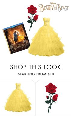"""Beauty and the beast"" by skye-r ❤ liked on Polyvore featuring Disney, BeautyandtheBeast and contestentry"