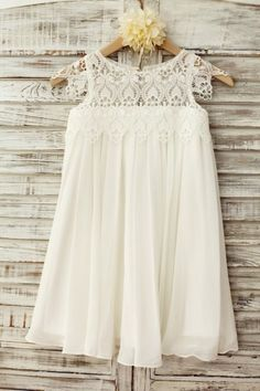 Princessly.com-K1003221-Boho Beach Lace Cap Sleeves Ivory Chiffon Flower Girl Dress-31