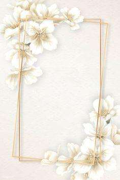 Rectangle cherry blossom frame vector   premium image by rawpixel.com / manotang Framed Wallpaper, Phone Wallpaper Images, Flower Background Wallpaper, Flower Backgrounds, Pink Wallpaper, Wallpaper Backgrounds, Iphone Wallpaper Glitter, Tropical Background, Phone Backgrounds