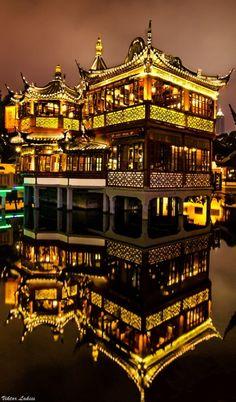 Huxinting Tea House in Shanghai, China