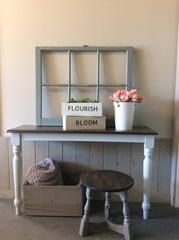 The NEW Modern Farmhouse Paint Collection in action! – Superior Paint Co. Barn Wood, Modern Farmhouse, Entryway Tables, Action, Grey, Painting, Inspiration, Furniture, Collection