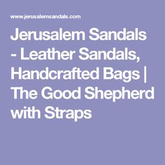 b5ecdf131cdf Jerusalem Sandals - Leather Sandals