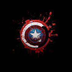 Camiseta Capitán América. Escudo salpicado