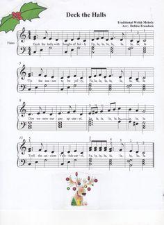 Deck the Halls, broken chords, Christmas song