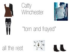 """""""Catty Winchester Worlds Colliding (Supernatural) 8.10 """"Torn and Frayed"""""""" by mysticfalls1997 ❤ liked on Polyvore featuring Michael Kors, ISABEL BENENATO, Matisse and Glamorous"""