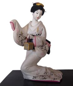JAPANESE HAKATA DOLLS | with cage, Japanese clay figurine, vintage. Japanese dolls and hakata ...