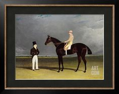 Birmingham with Patrick Conolly Up, and His Owner, John Beardsworth Giclee Print by John Frederick Herring at Art.com